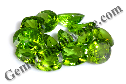 Calibrated Natural Peridots from Burma Lot Name Dione