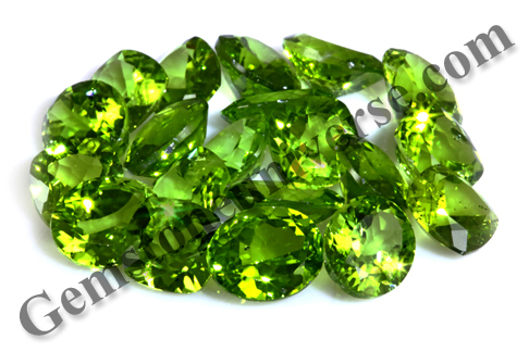 Calibrated Natural Peridots from China Lot Name Alke