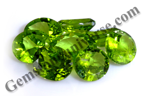 Calibrated Natural Peridots from China Lot Name EOS