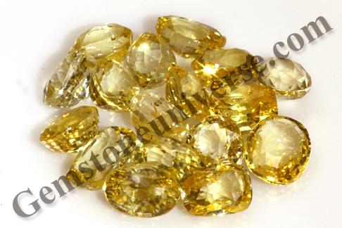 PUSHTI Nourishment Unheated Yellow Sapphires