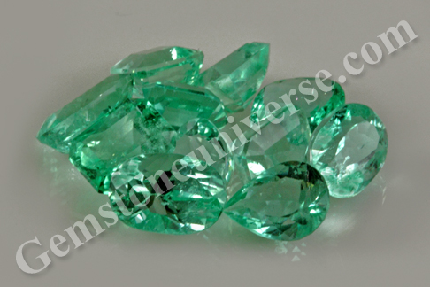 Emeralds from the famous Muzo Mines from Colombia from the Lot Brahma