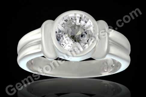 Unheated White Sapphire from Ceylon