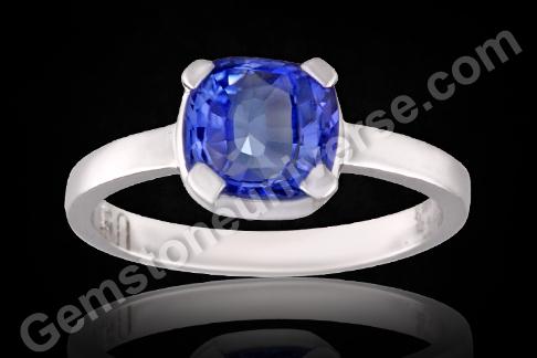 Ceylon Blue sapphire with Cornflower colour