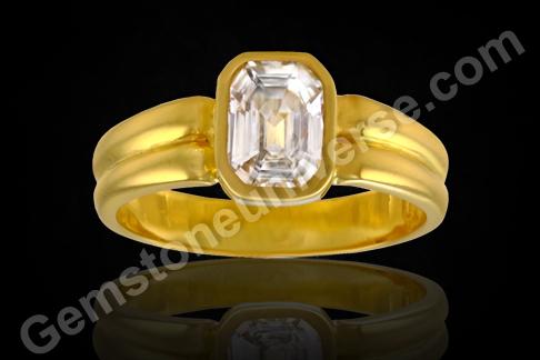 Sri Lankan White Sapphire ring
