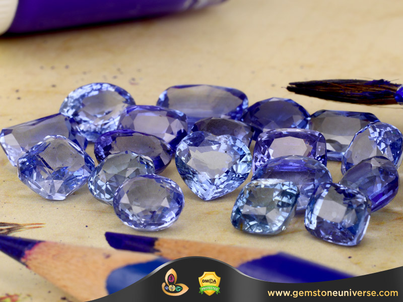 Ceylon Blue sapphire with Cornflower colour