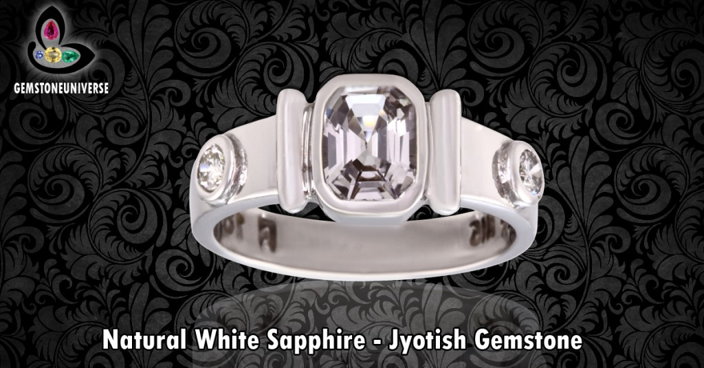 Flawless White Sapphire ring with Diamonds