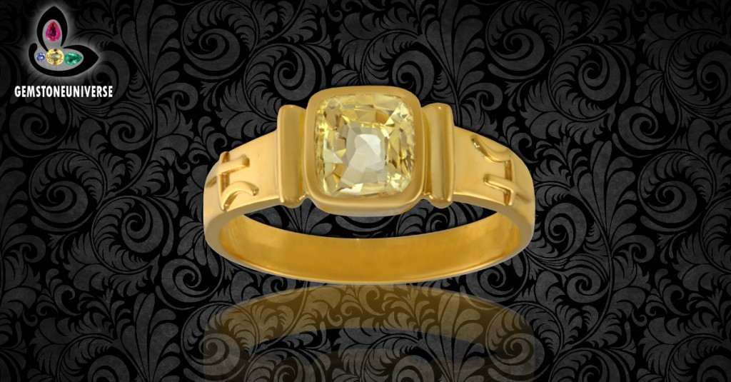 Unheated Yellow Sapphire set in a Jupiter Talismanic Ring