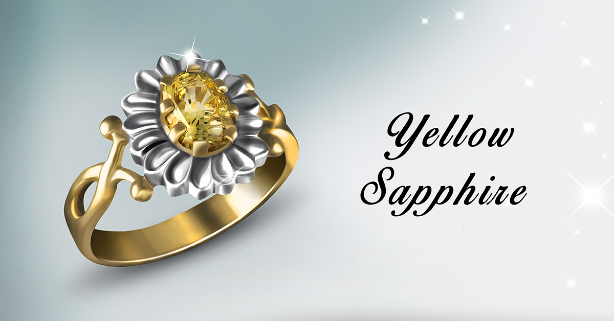 Natural Yellow Sapphire having the Golden Canary Yellow Colour
