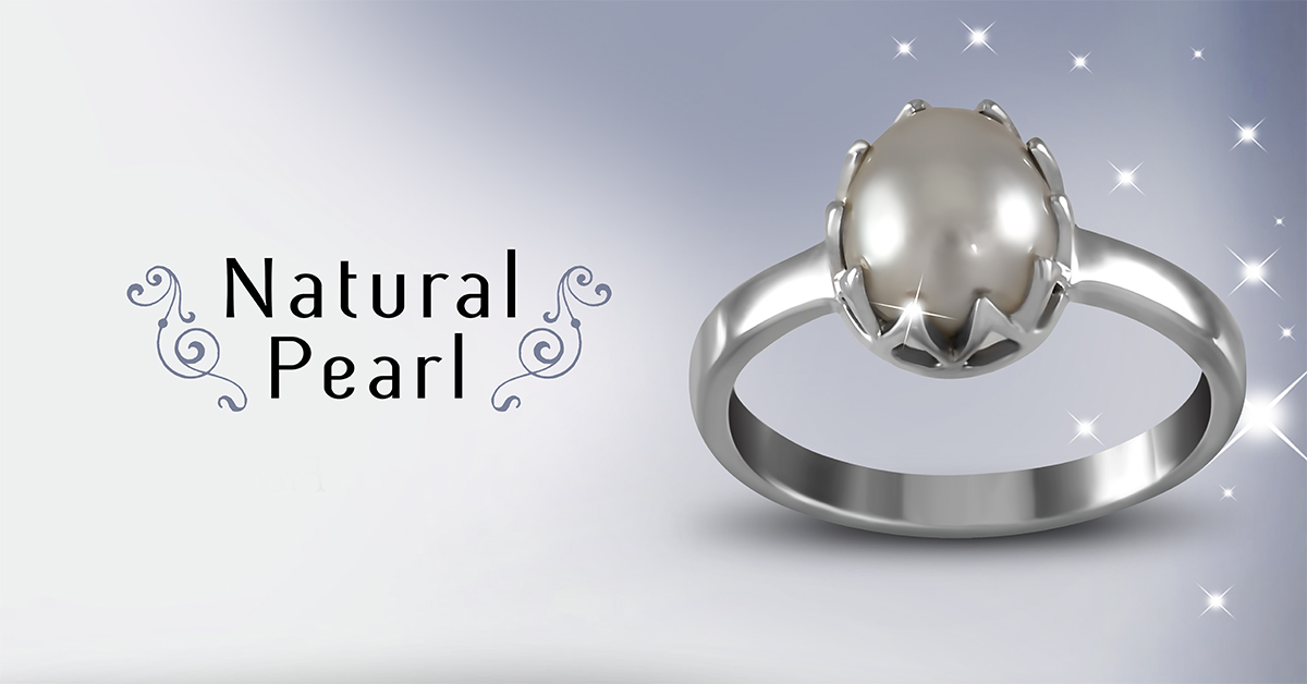 Natural Pearl Ring See and evaluate Jyotish quality
