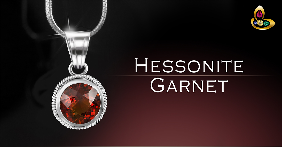 Hessonite Gomed Pendant in Silver for Rahu