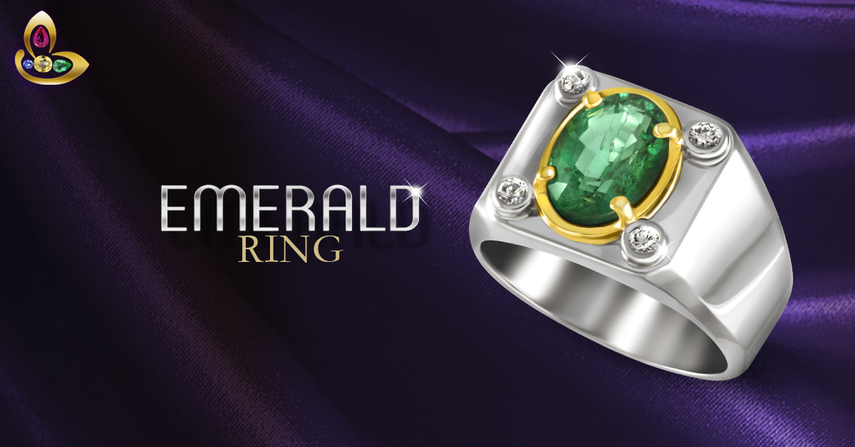 Zambian Emerald Ring with Diamonds