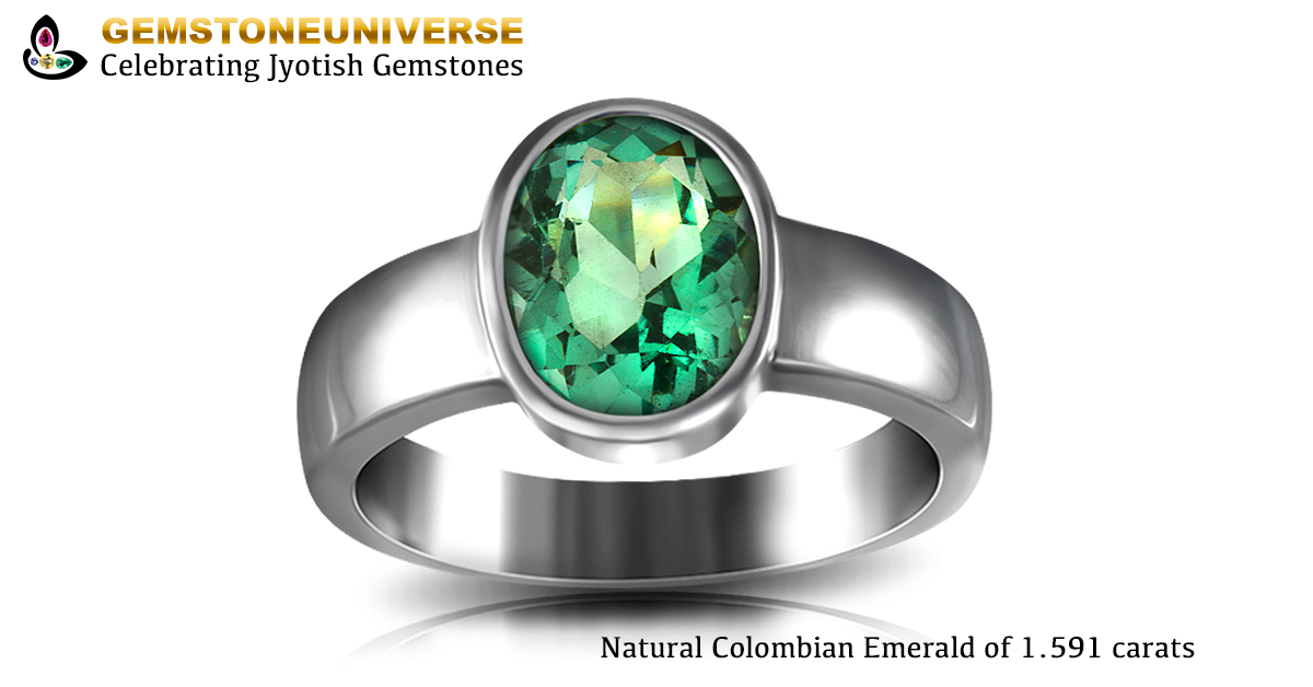 Colombian Emerald Ring in Silver