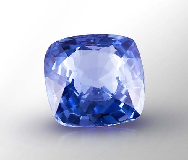 The Blue Sapphire before it was set in the ring