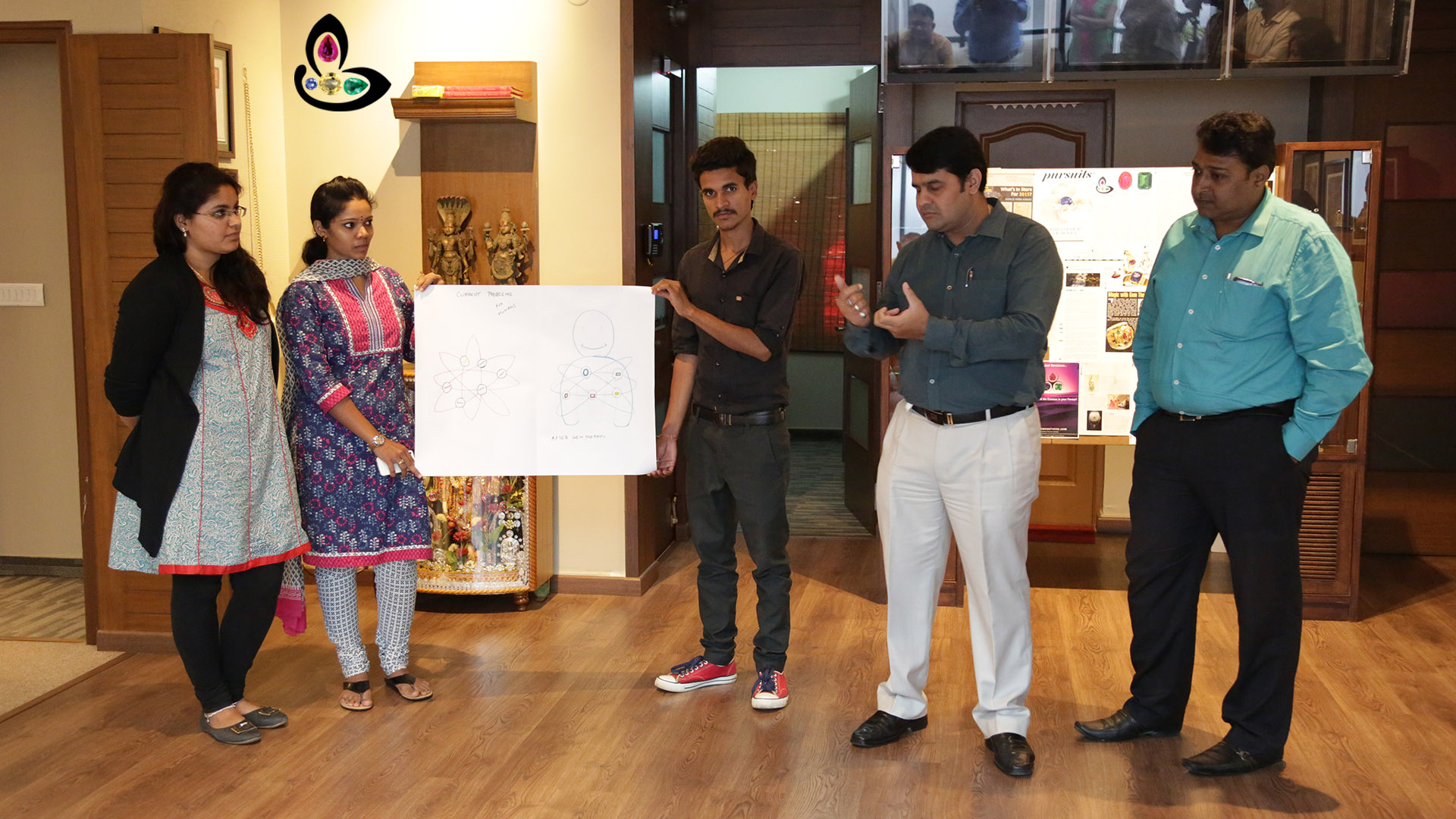 Team Wisdom Led By Raghav Ji explaining their interpretation of Gemstoneuniverse Vision