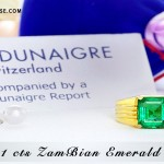 Beautiful Rare Zambian Emerald Jyotish Gemstone Ring
