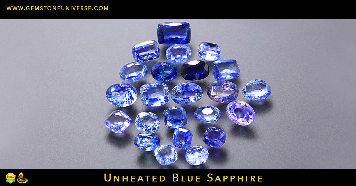Unheated Sapphires from Ratnapura