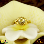 GIA Certified Yellow Sapphire set in a Gold Ring from the Gemstoneuniverse collection of fine Jyotish Gemstones