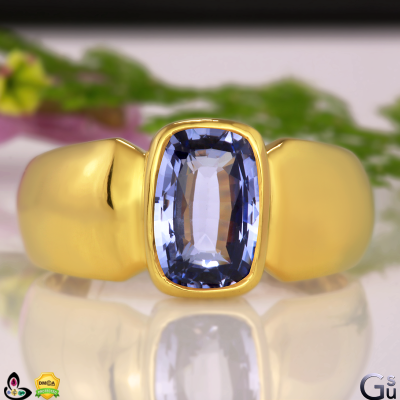 Indraneelam Bluish Violet Blue Sapphire from Gemstoneuniverse collection of fine Jyotish Gemstones