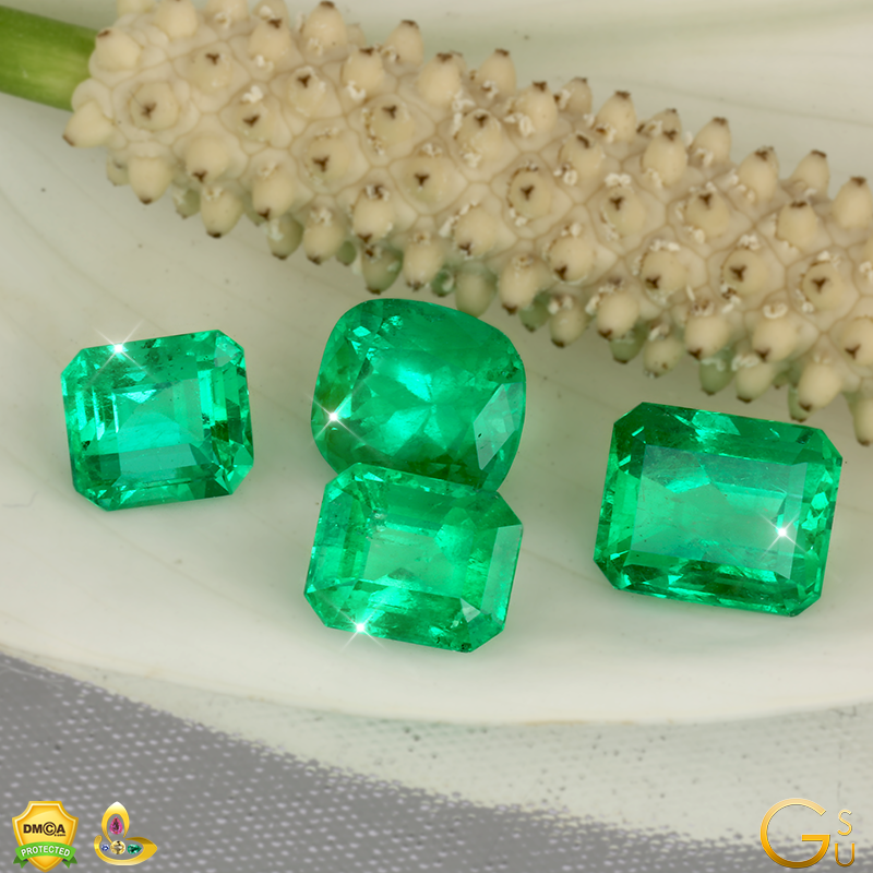 Fine Colombian Emeralds from the Gemstoneuniverse Collection