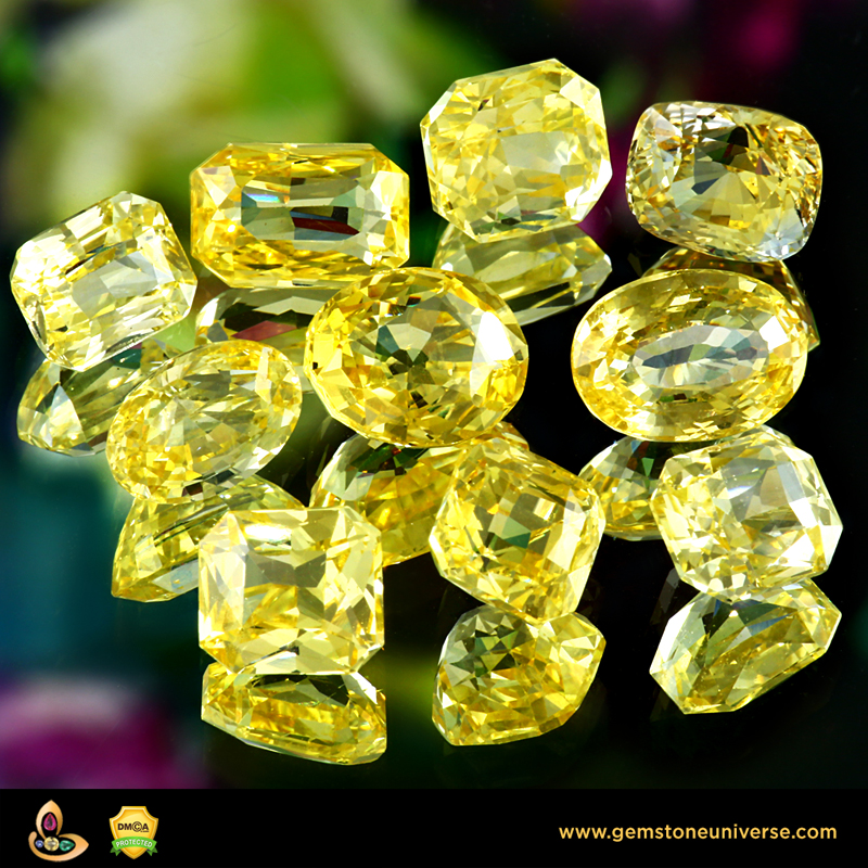 Unheated Yellow Sapphires from the Gemstoneuniverse Collection
