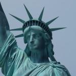 Statue of Liberty Showing Tarnish