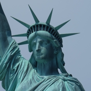 Statue of Liberty Showing Tarnish