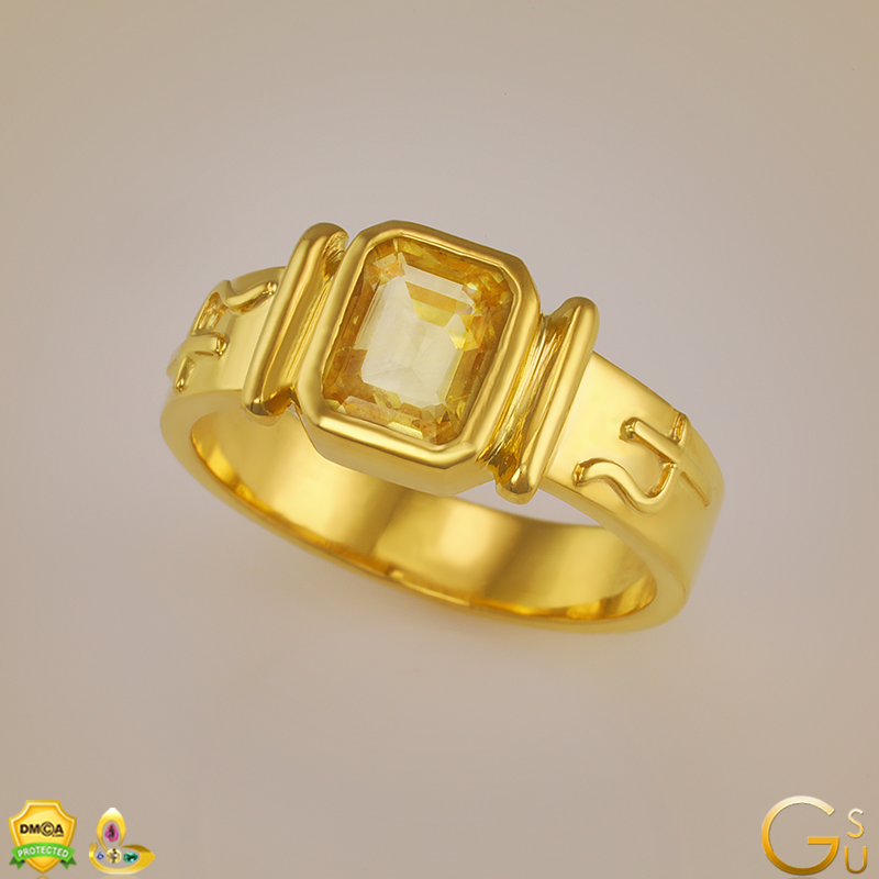 Flawless Kanakpushya Raga Ring from the Gemstoneuniverse collection of fine Jyotish Gemstones