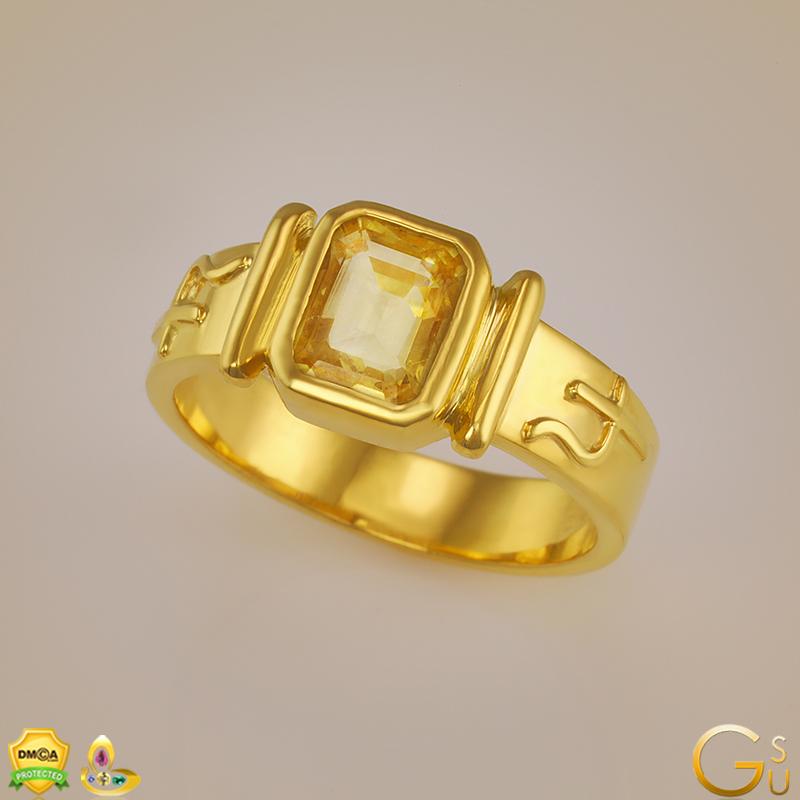 Flawless Kanakpushya Raga Ring from the Gemstoneuniverse collection of fine Jyotish Gemstones