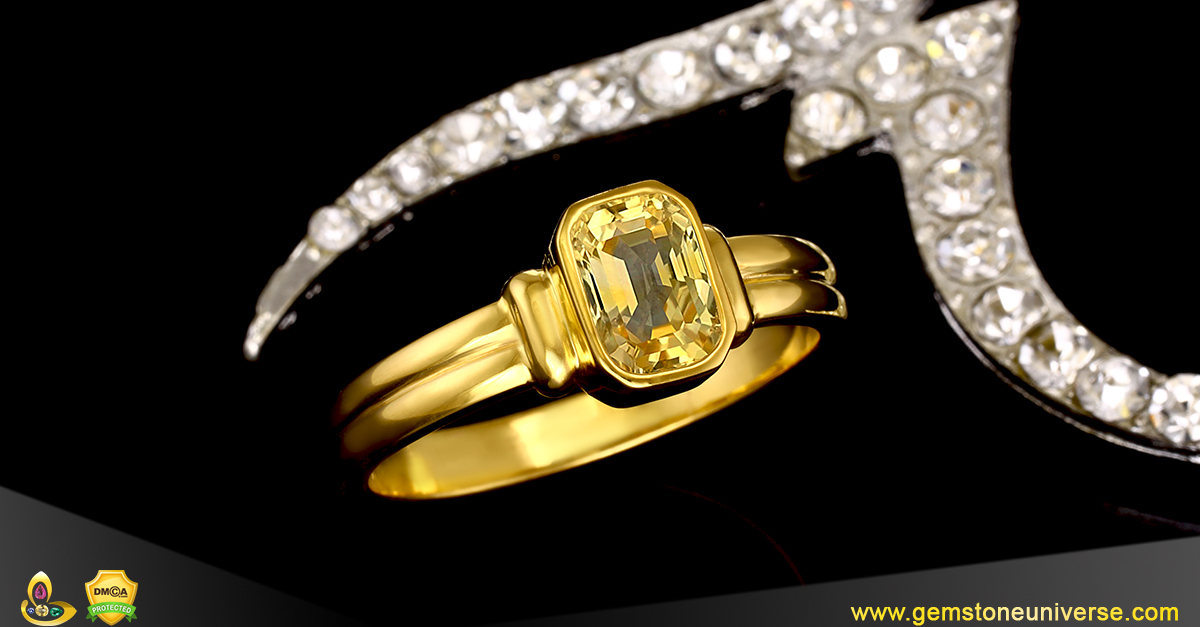 Eye Clean Flawless Yellow Sapphire from the Gemstoneuniverse collection