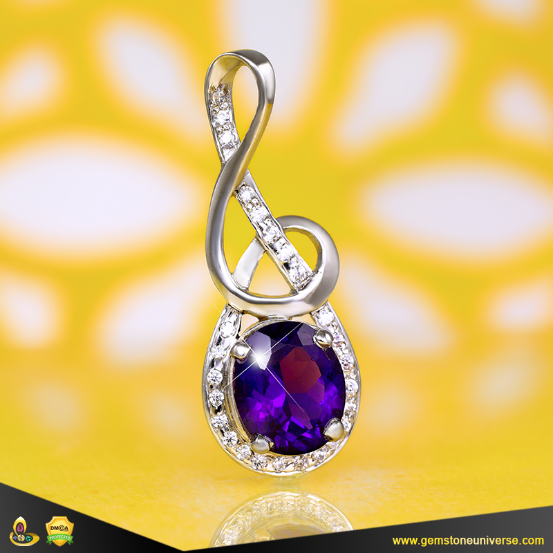 Fine Amethyst Stone Pendant from the Gemstoneuniverse collection
