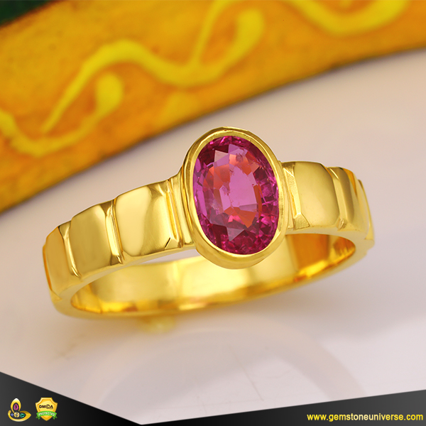 Fine Ruby Jyotish Gemstone Ring from Gemstoneuniverse