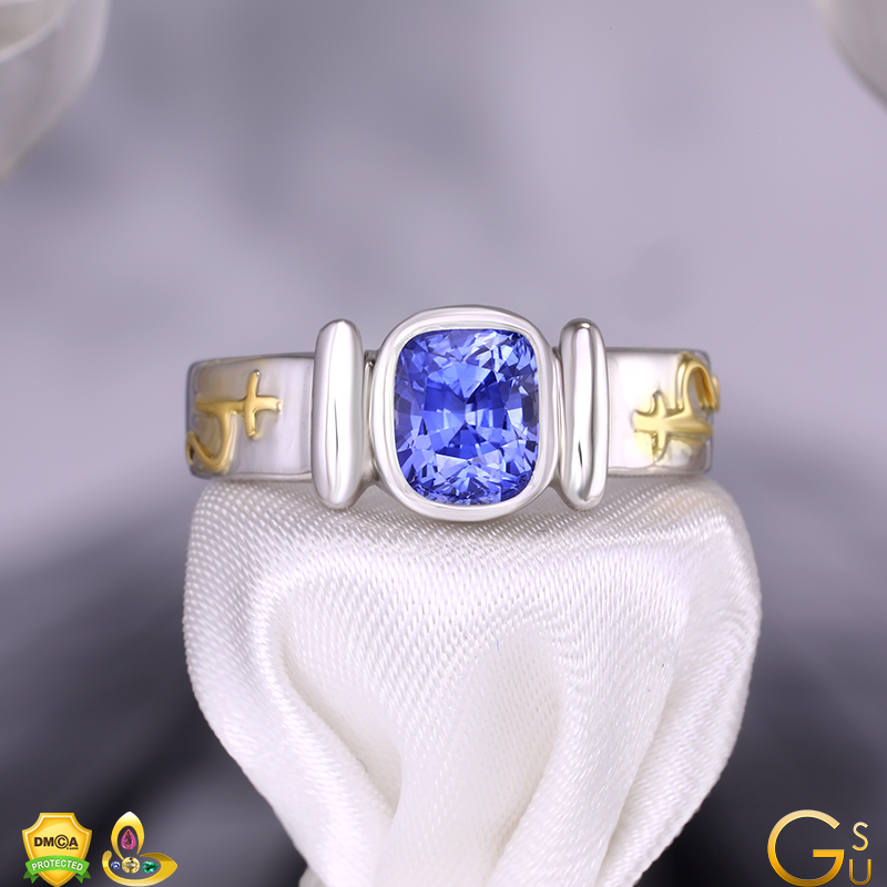 Brilliant Blue Sapphire Saturn Ring from the Gemstoneuniverse collection of Fine Jyotish Gemstones