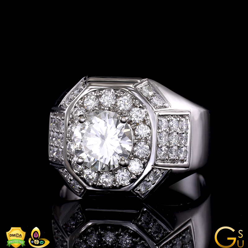 Flawless 2 carat Jyotish Diamond Ring from Gemstoneuniverse