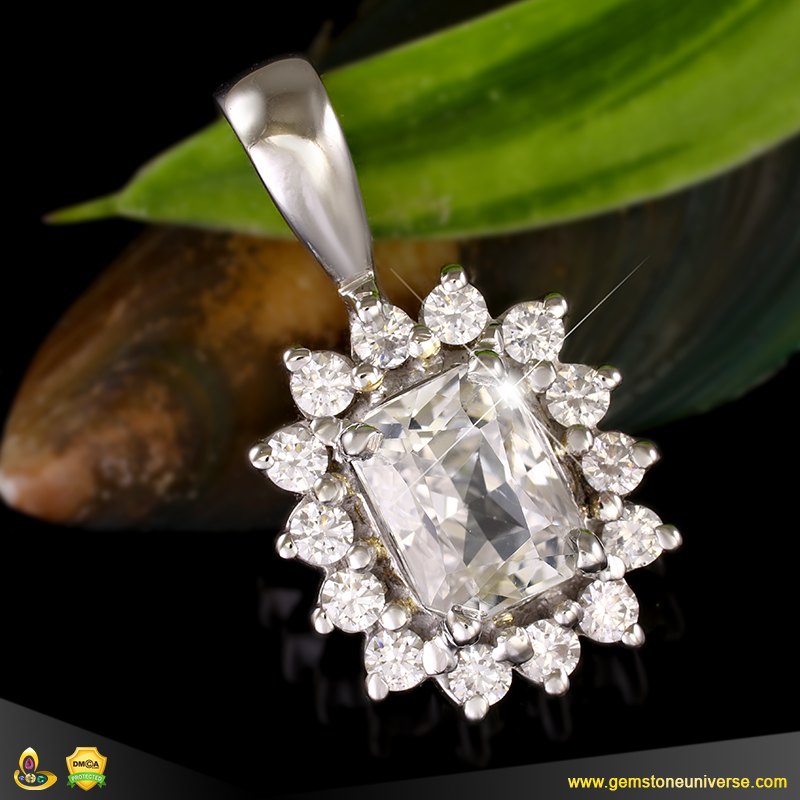 Unheated Sri Lankan White Sapphire from the Gemstoneuniverse collection