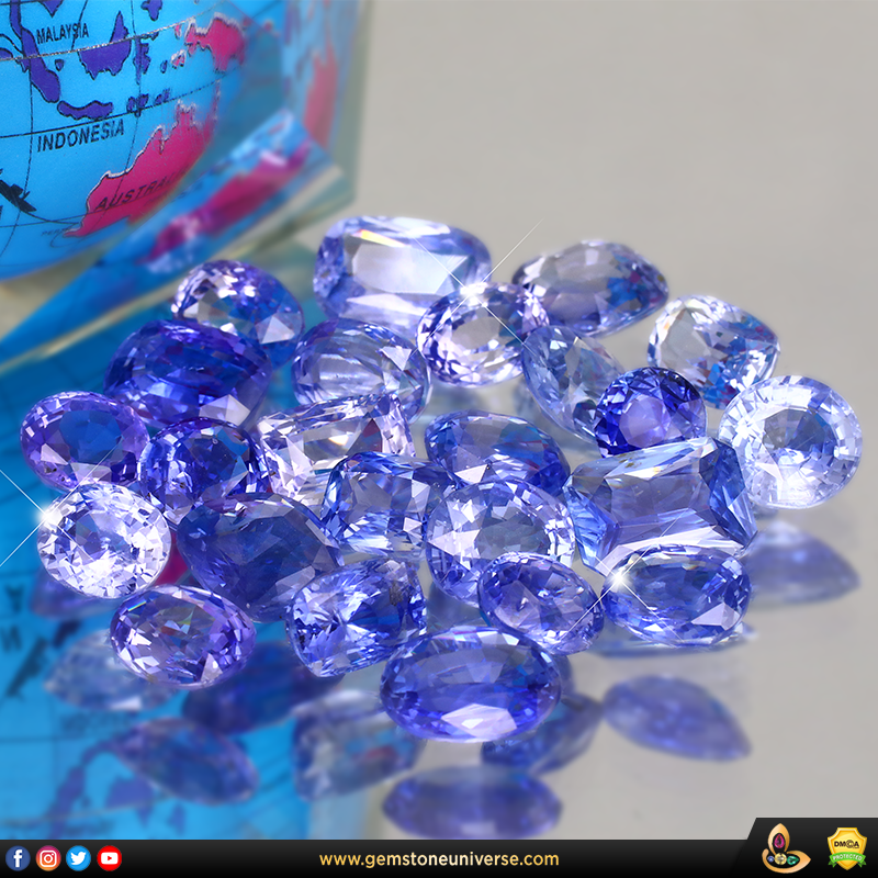 Fine Unheated Blue Sapphires from the Gemstoneuniverse collection