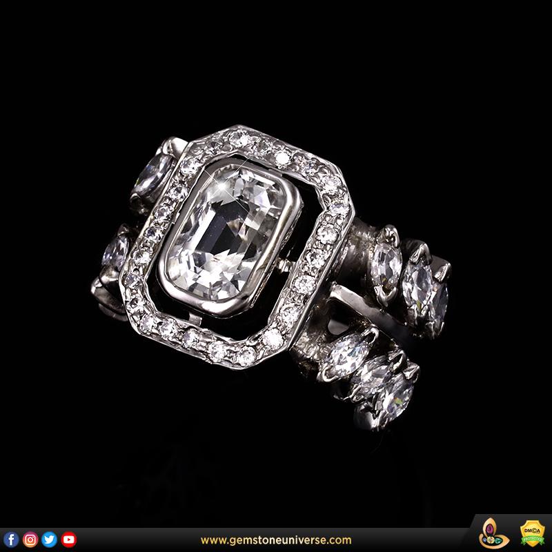 White Sapphire Jyotish Gemstone Ring for Venus