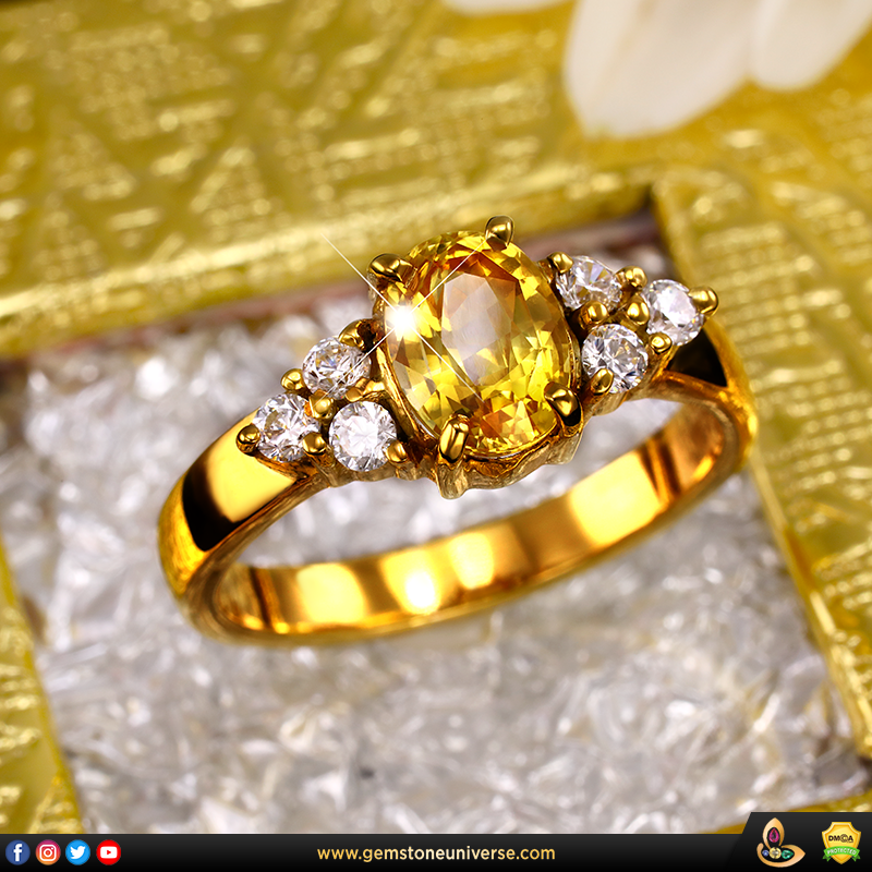 Vivid Yellow Sapphire for Jupiter in Jyotish and Ayurveda