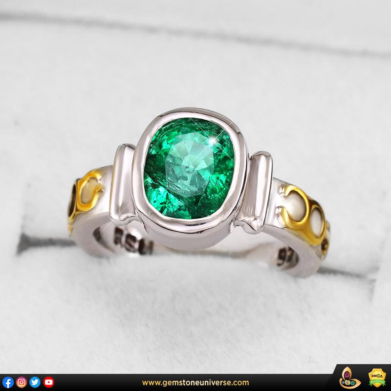 KAGEM Mine Zambian Emerald ring from Gemstoneuniverse