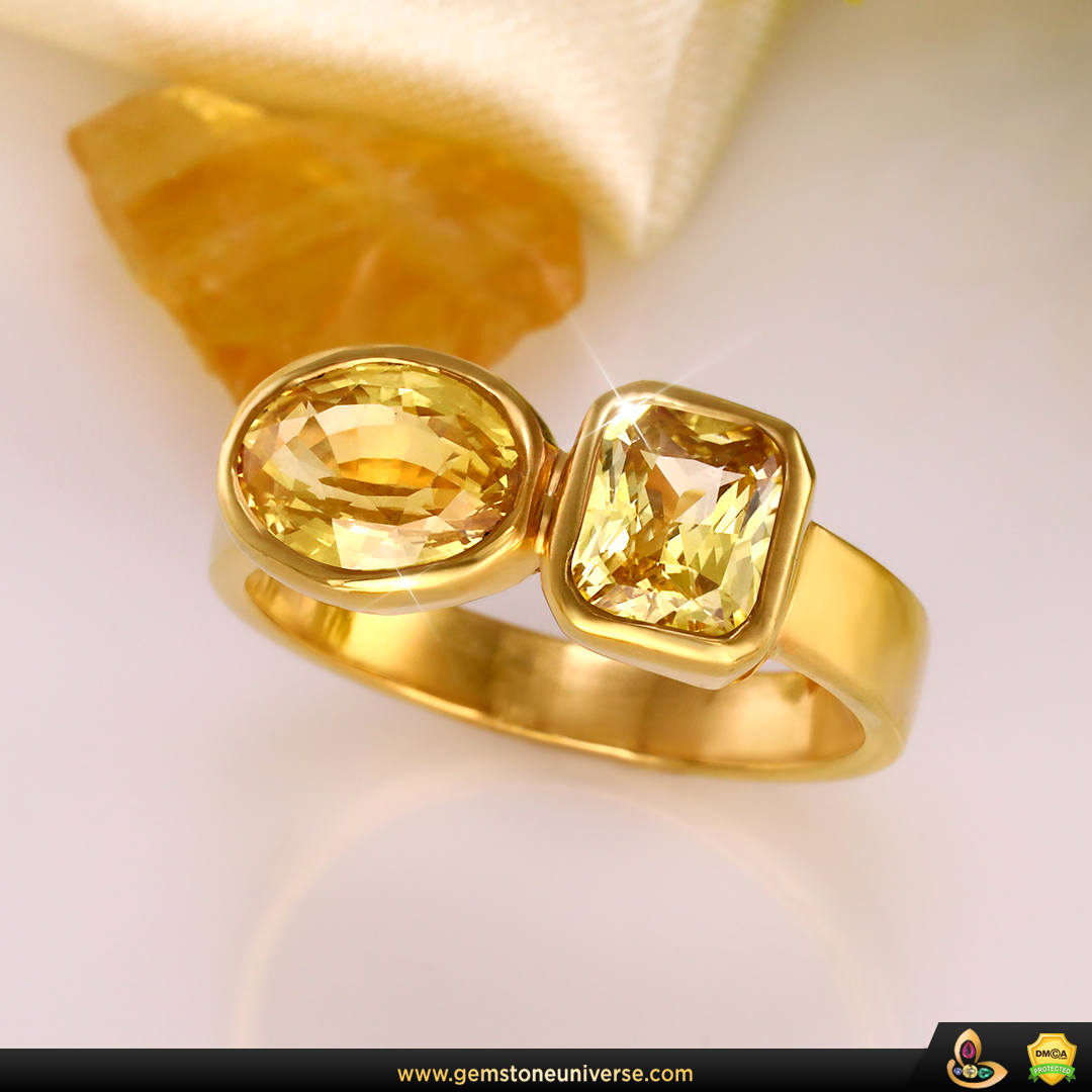 Yellow Sapphire Ring Smart Gem Therapy