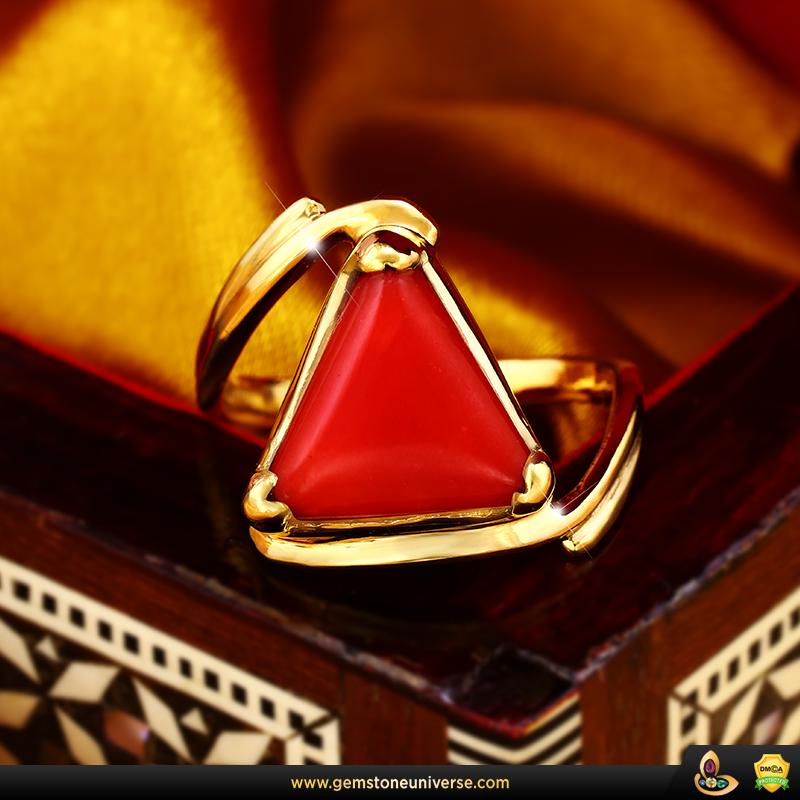 Fine Jyotish Gemstone Red Coral ring from Gemstoneuniverse