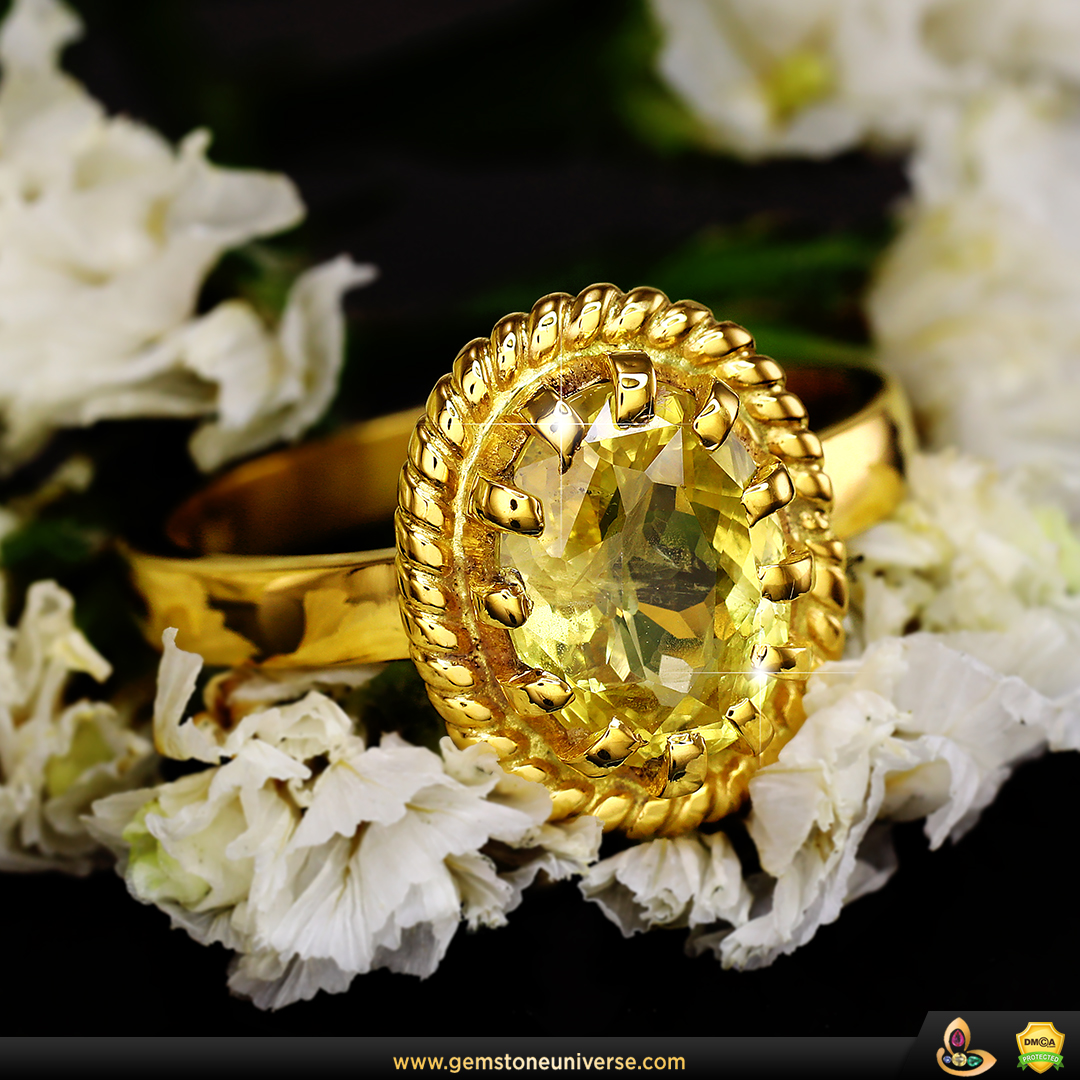 Fine Yellow Sapphire Pukhraj from the Gemstoneuniverse collection