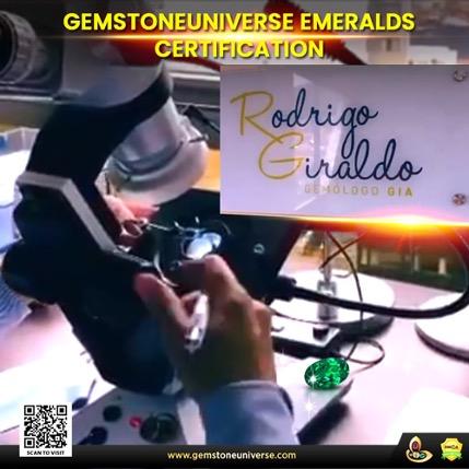 Gemstoneuniverse Emeralds Certified from Rodrigo Giraldo Lab
