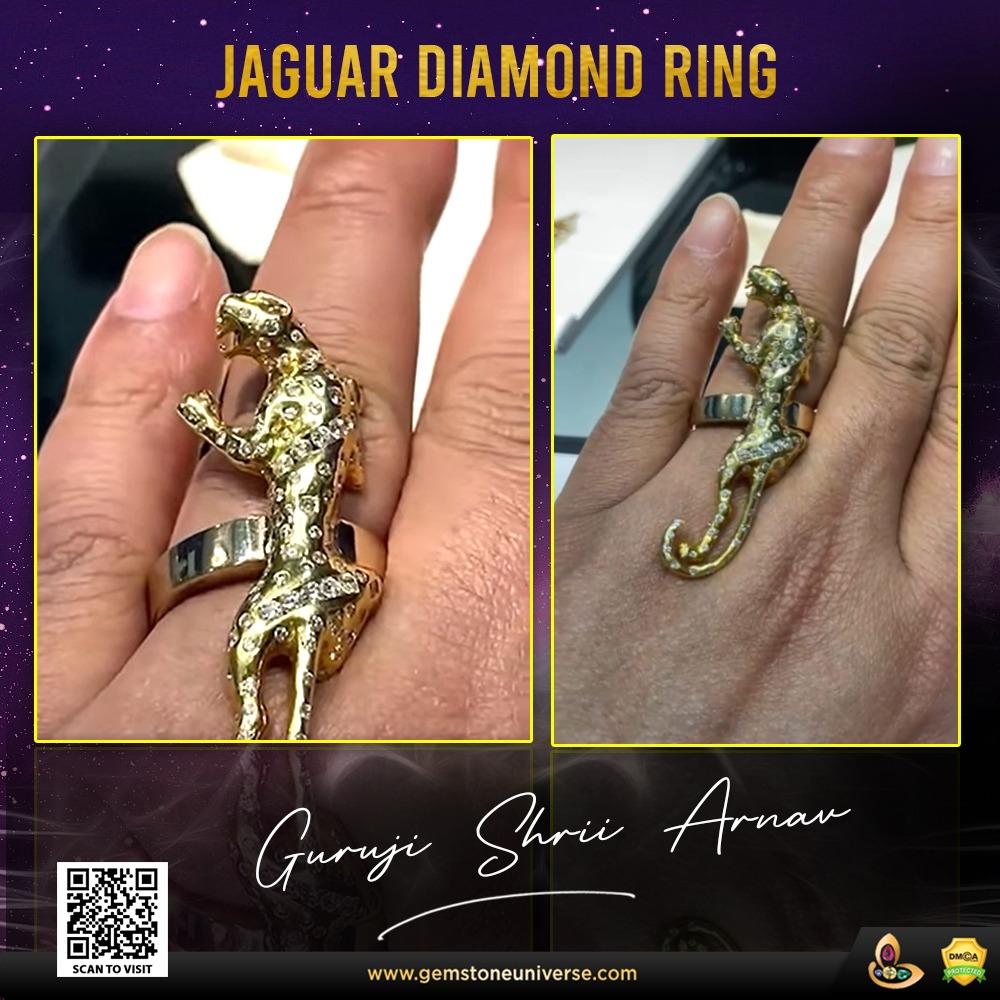 Jaguar Diamond Ring: Designed by Guruji Shrii Arnav