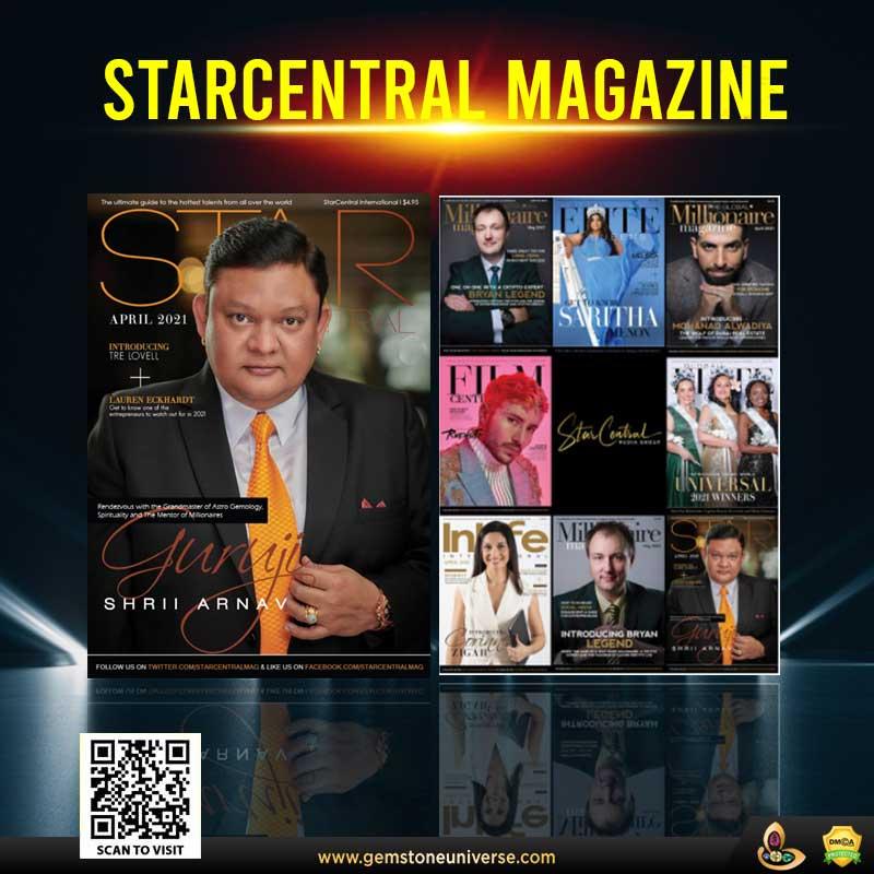 GURUJI SHRII ARNAV FEATURES ON STARCENTRAL MEDIA GROUP'S MOVERS & SHAKERS FOR MAY 2021