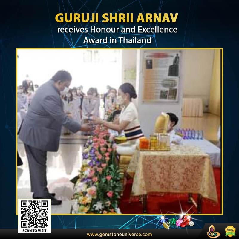 Guruji Shrii Arnav dedicates Award by HRH of Thailand to Children of Migrant Workers