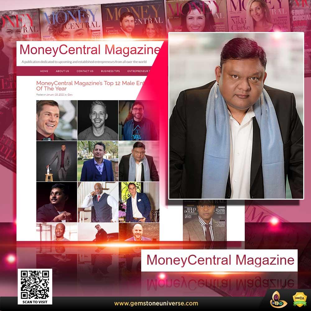 """Guruji Shrii Arnav named in """"TOP 12 Male Entrepreneurs"""" List by MoneyCentral Magazine"""