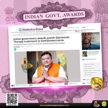 Gemstoneuniverse receives Jyotish Gemstones Therapy trademark by Indian Government