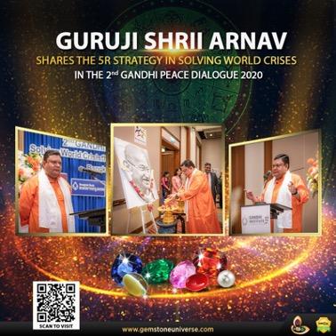 Guruji Shrii Arnav speaks on Solving World Crises by Gandhian Philosophy in the 2nd Gandhi Peace Dialogue
