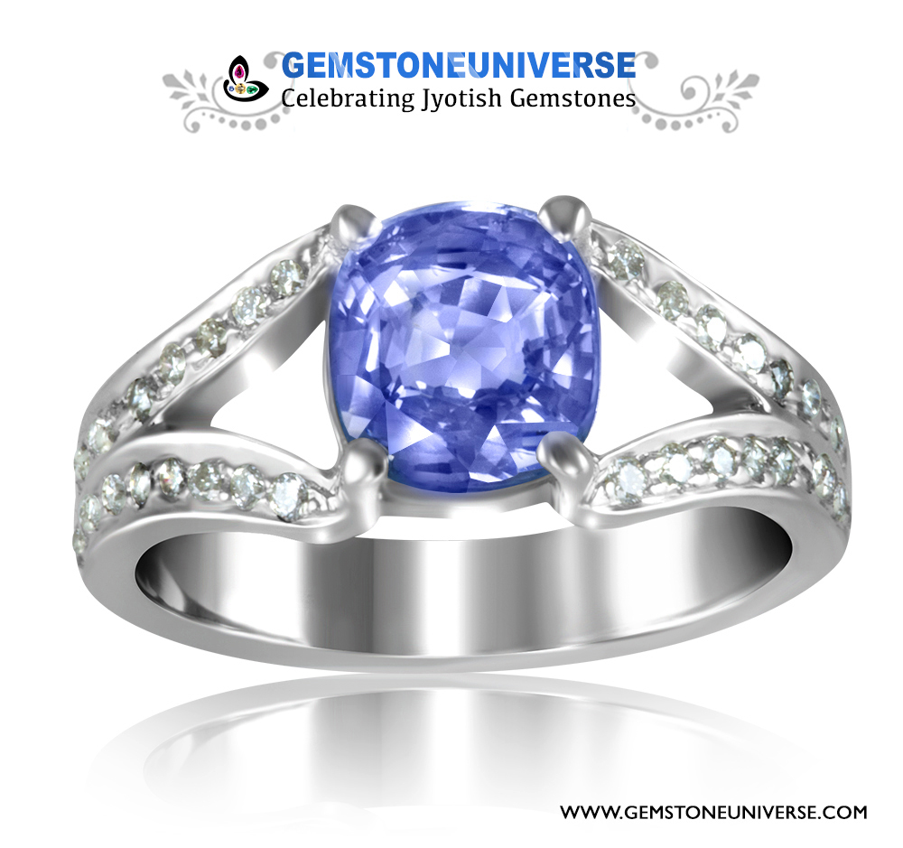 Vedic Jewellery Blue Sapphire Diamond Engagement rings