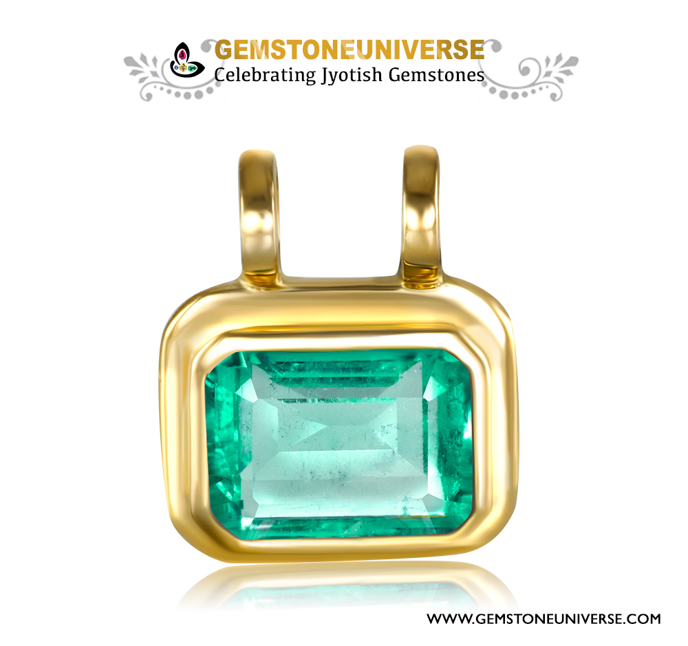 Can emerald be worn as a pendant astrologically?
